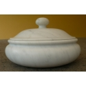 Biscuit box in White Carrara marble