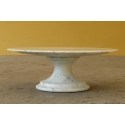 Cake stand in White Carrara marble