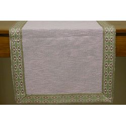Linen table stripe