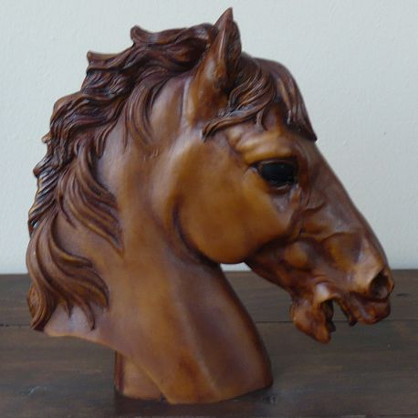 Bust of bay horse