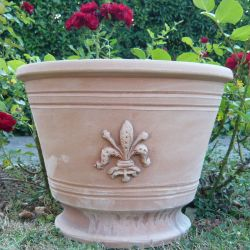 Cache-pot with Florence lily