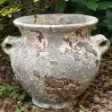 Cache-pot in old styled marine terracotta