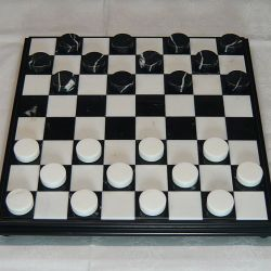 "Checkers' pawns ""White-Black marble"""