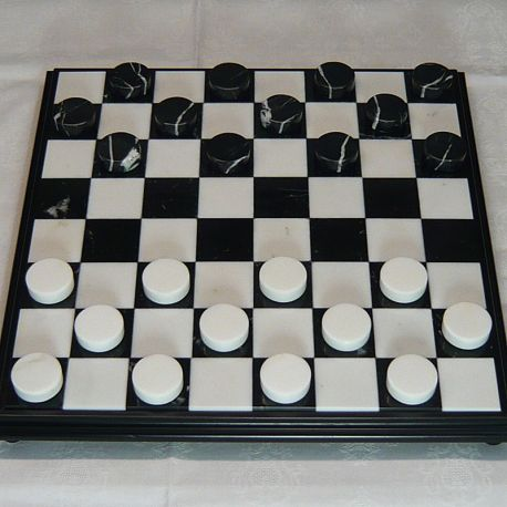 """Checkers' pawns """"White-Black marble"""""""