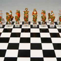 """Palio of Siena chess """"Selva - Forest"""""""